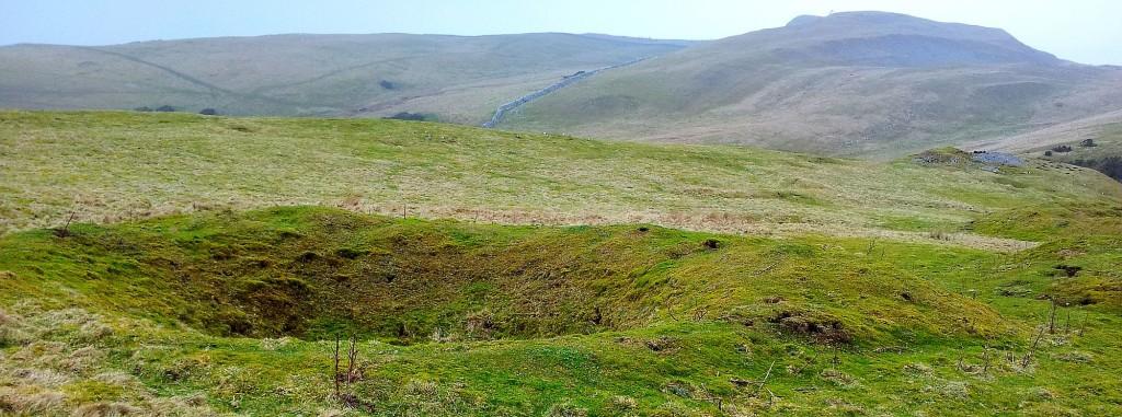 A sinkhole on the moors, Eastern Cumbria.
